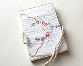 Journal cover recycled vintage embroidered cloth country #3
