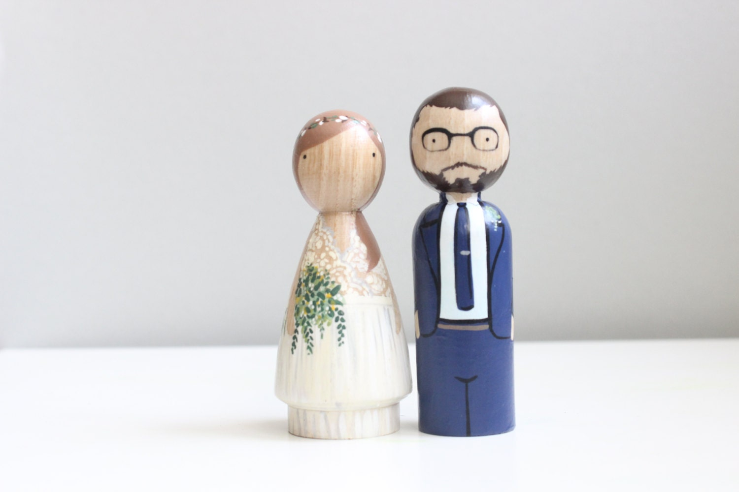 Wedding Cake Toppers Custom Peg Doll Wedding Cake Toppers