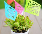 Papel picado TWILIGHT Personalized Centerpiece Flags . featured in Brides Magazine