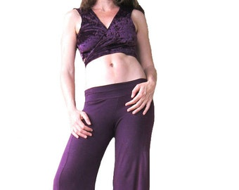 ON SALE - Purple Velvet Wrap - Mini Crop Top, Tribal Fusion, Festival Style, Belly Top, Belly Shirt