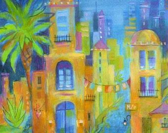 Mexico Cityscape Art Print