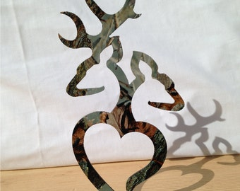 Wedding Cake topper, Deer couple in timbers edge camo