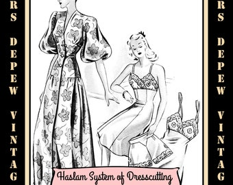 Haslam Dresscutting Book of Draftings Lingerie No. 6 1940's Vintage Sewing Pattern E-book with over 30 Patterns - INSTANT DOWNLOAD