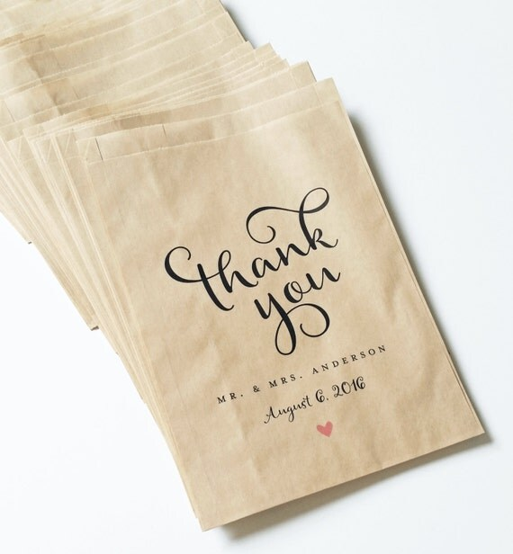 Wedding Candy Buffet Brown Kraft Favor Bags By CricketPrinting
