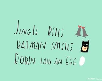 Jingle Bells Batman Smells christmas card cc144