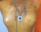 Lucky Penny Necklace // Large Pendant // Silver Chain // Statement Necklace // Casino Souvenir // LAS VEGAS Wedding // Good Luck Charm