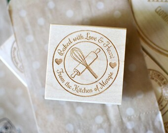 Custom Round Rubber Stamp - Baking Stamp - Bakers Stamp - Customized Stamp - Personalized Stamp
