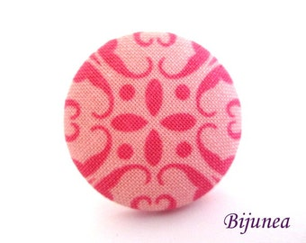 Indian ring - Fabric indian ring - Fabric ring - Pink indian ring r938