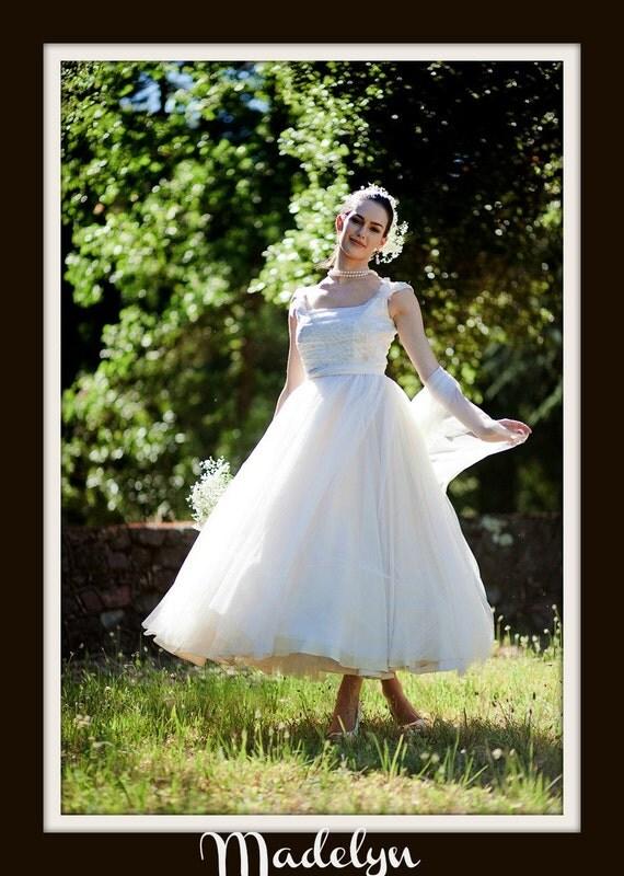 1950s Wedding Dress  'MADELYN'