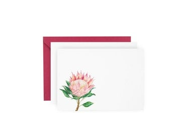 Protea Note Card