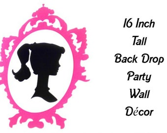 Vintage Barbie Inspired Party Wall Decoration Back Drop 16 inch tall