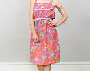 SALE - Pink Floral Dress LARGE