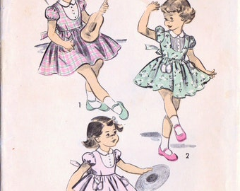 1950s Advance 5714 Vintage Sewing Pattern Girls Dress Size 8