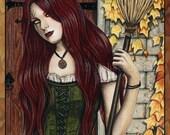 Season of the Witch 8.5 x 11 Print Gothic Autumn HALLOWEEN Art