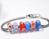 Charm Bracelet Beads // Fits Pandora // Charm Beads // Hand Blown Murano Glass