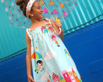 Girls Maxi Dress - Whatever the Weather Dress - Rainy Day Dress