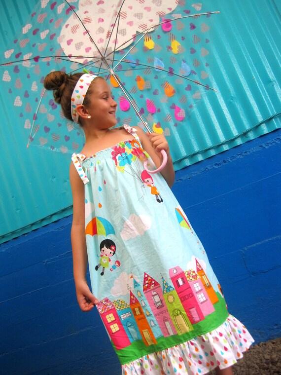 Girls Maxi Dress - Whatever the Weather Dress - Rainy Day Dress