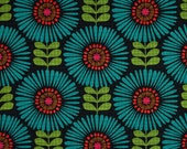 Fringe Flowers in Marine by Michael Miller Fabrics 100% Quilters Cotton Available in Yards, Half Yards and Fat Quarters