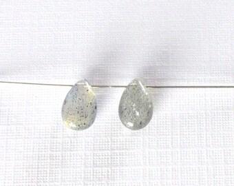Tiny Labradorite Teardrops - 8x5mm - Lot 2