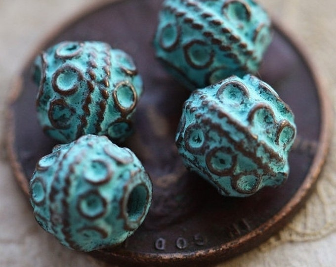 DECO No. 31 .. 4 Mykonos Greek Decorative Bead 6mm (M31-4)
