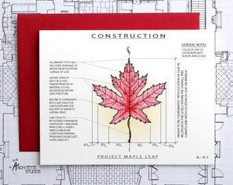 Project Maple Leaf - Blank Architecture Construction Card