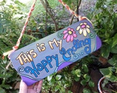 Happy Ending, Wedding sign, Just Married sign, Happily ever after, Happy Sign, painted sign, fairytale sign