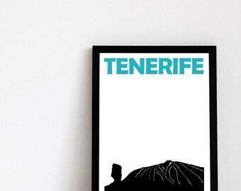 Tenerife Print // Spain Poster // Tenerife Art // Tenerife Poster // Spain Art // Spanish Art // Spanish Gift // Spanish Print // España