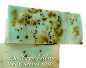 CYBER MONDAY SALE Soap- Vanilla Mint Soap - Handmade Soap with real mint- Soap Gift