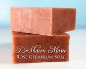 SOAP - Rose Geranium Soap, Facial soap, Cold Process Soap, Vegan Soap, Organic Soap, Soap Gift