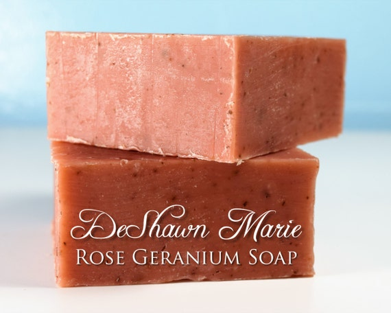 SALE SOAP - Rose Geranium Soap, Facial soap, Cold Process Soap, Vegan Soap, Organic Soap, Soap Gift, Mother's Day Gift, Christmas Gift, Birt