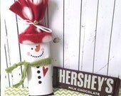 1 Snowman Candy Wrappers Christmas Gifts Party Favors