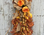 Fall Wreath Alternative, Fall Door Wreaths, Autumn Door Decor, Thanksgiving Wreath for Door, Fall Door Swags, Fall Door Decorations