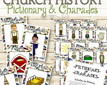 Pictionary & Charades for Church History - INSTANT DOWNLOAD