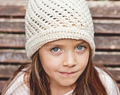 Instant download -  Crochet PATTERN (pdf file) - Pearl Cloche Hat (baby to adult)