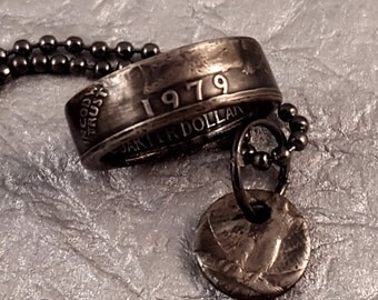 1979 Coin Ring & Necklace Set Year Quarter MS0905-TYR1979