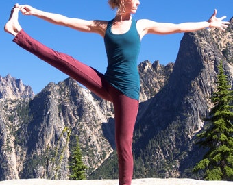 Hemp Inspire Yoga Pants - Women's organic yoga clothing - eco-friendly leggings