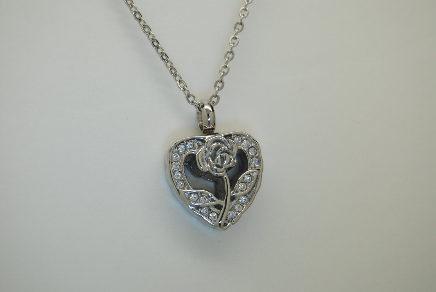 cremation jewelry cz urn necklace ash by