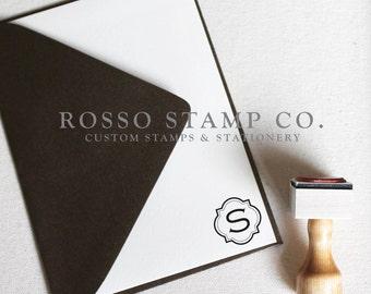 Monogram Stamp, Wedding Monogram Stamp, Custom Stamp - Style No. 10