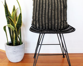 Vintage African Mud Cloth Cushion Pillow Cover - Small Black and White Arrows