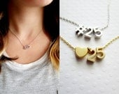 Number Necklace - Personalized Number Necklace Gold Number Necklace Silver Number Necklace Bridal Gift Date Necklace Anniversary Gift