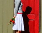 Cotton Linen Blend Circle Skirt, Full Spectrum of Colors Availible, Custom Made, You choose Fitted, Comfy, Loose