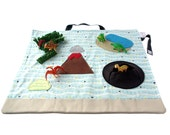 Toys for Boys - Dinosaur Toy – Pretend Play - Deluxe Dinosaur Play Mat – Ring Bearer Gifts – Dinosaur Playscape – Gifts for Boys