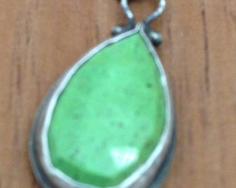 Sterling Silver Pendant with Gaspeite