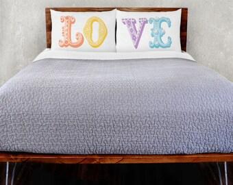 Multi Love Pillowcase Set