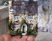 1/144 Scale Dollhouse Stone Cottage