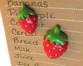 Strawberry Fridge Magnets – Food Magnets – Cute Fridge Magnets - Locker Magnets