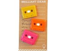 Cassette Tape Magnet, Cute Fridge Magnets, Refrigerator Magnet, Retro Décor, Geekery, Kitchen Décor, Office Décor, Retro Magnets, Fun Magnet