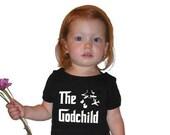 Godchild gift: funny parody bodysuit baby boy girl romper creeper for birthday, baptism, or christening