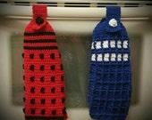 Tardis Hand Towel Crochet PATTERN Only
