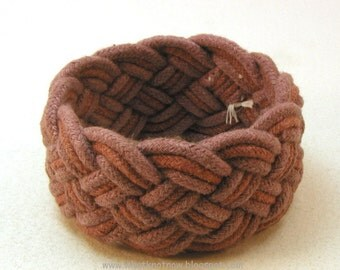 woven rope bracelet chocolate marsala blend handmade cotton sailor bracelet turks head knot bracelet arm band 3579